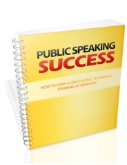 public speaking success - plr